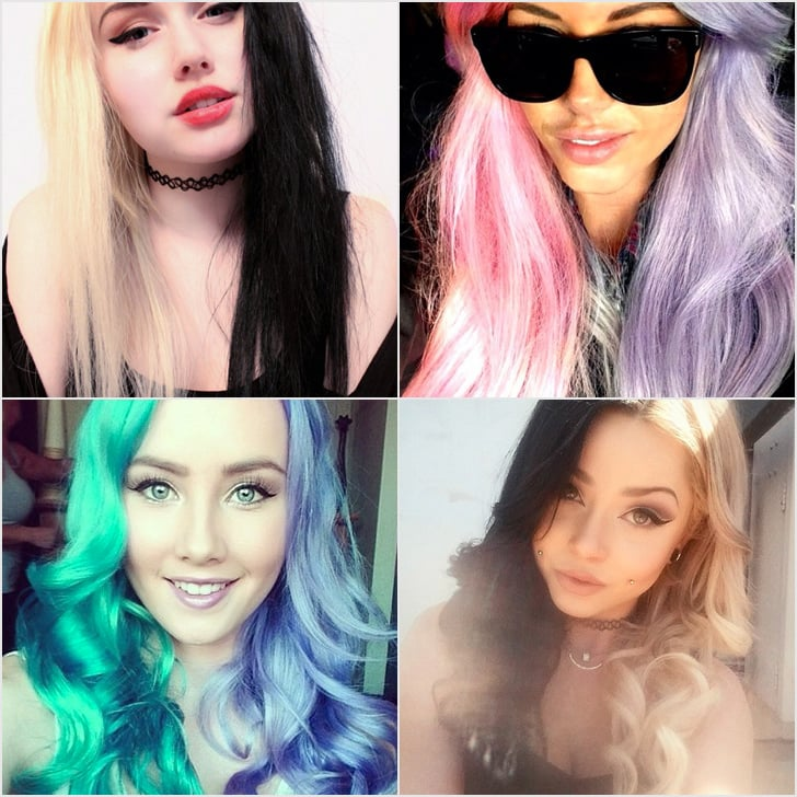 Forget Rainbow Hair; Half-and-Half Dye Is The Hot New