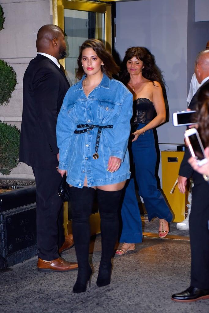 Ashley Graham Jean Jacket Outfit April 2019
