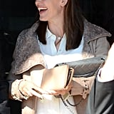 Jennifer Garner chatted with a friend in LA.