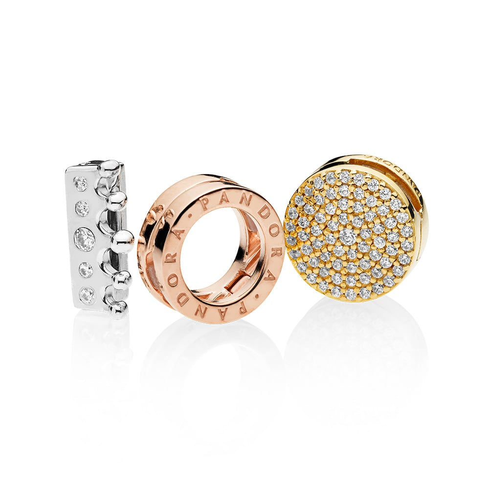 PANDORA Reflexions Clip Charms in Sterling Silver, PANDORA Rose and PANDORA Shine (from $39)