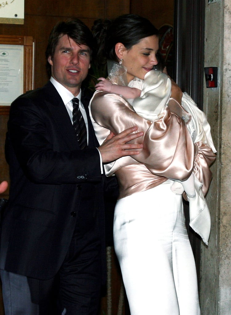 Tom Cruise and Katie Holmes were with a very young Suri Cruise.