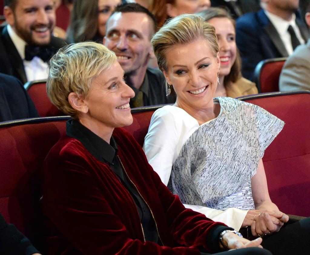 Pictured: Ellen DeGeneres and Portia de Rossi