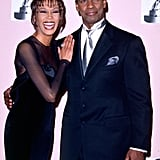 Denzel Washington and Whitney Houston at the 27th Annual NAACP Image Awards in 1996