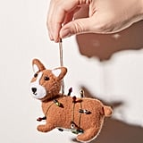 Felt Corgi Christmas Ornament