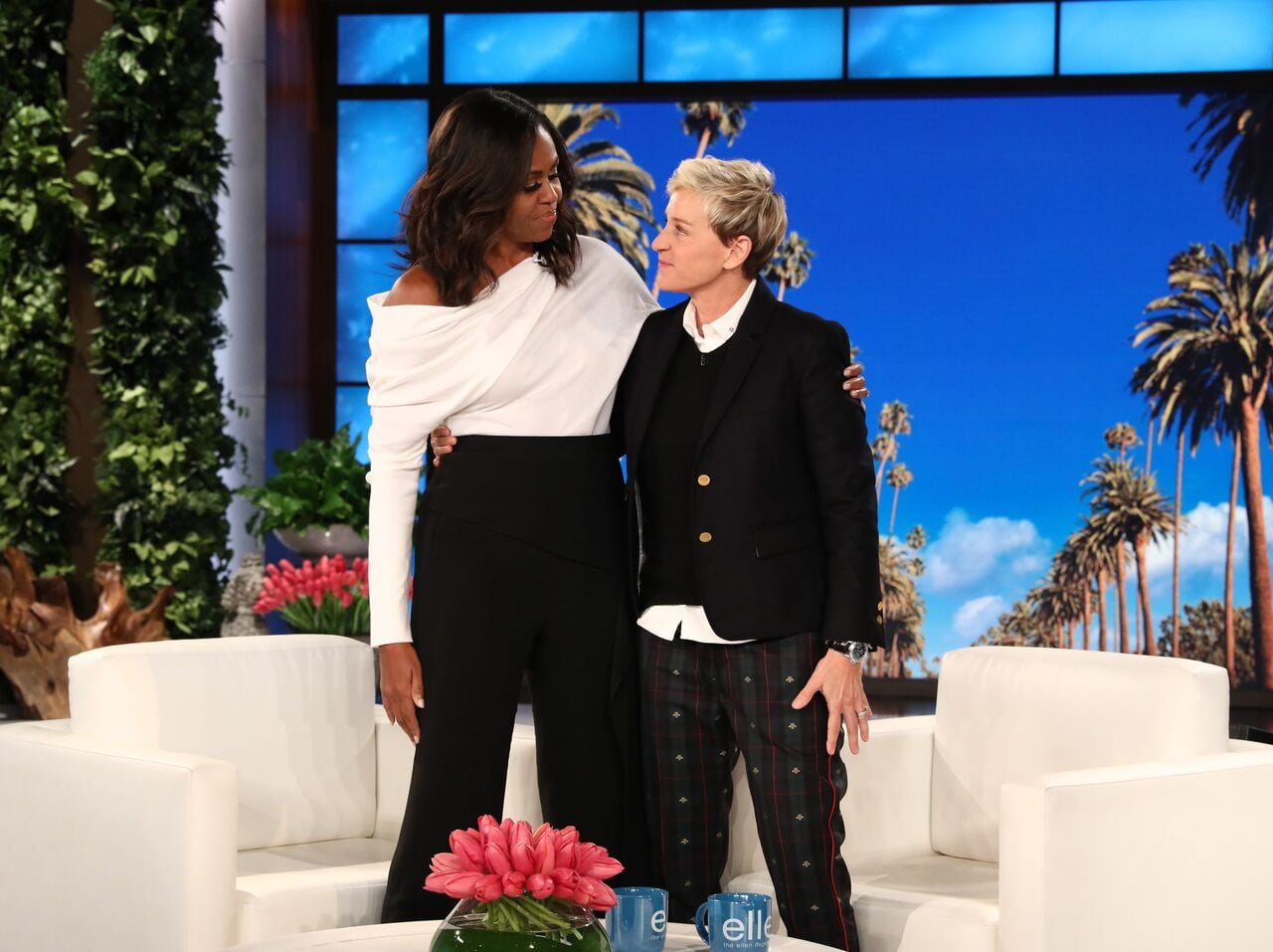 Michelle Obama makes first post-White House television appearance on Ellen.