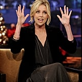 Charlize told a funny story about her young days as a model.