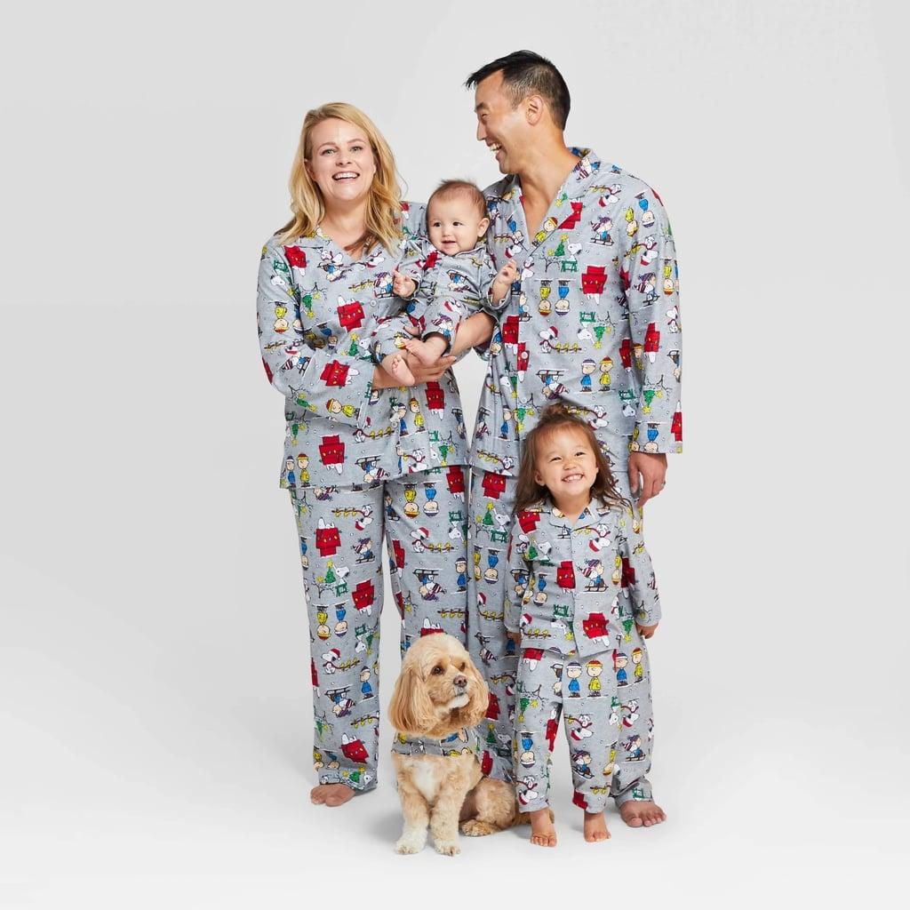 Men's Peanuts Holiday Flannel Pajama Set