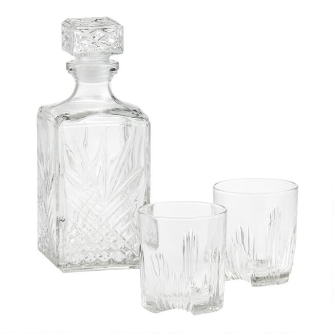 Bormioli Rocco Selecta Seven Piece Whisky Decanter Set
