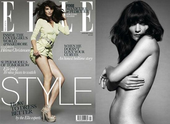 Photos of Helena Christensen in Elle Magazine, January 2010