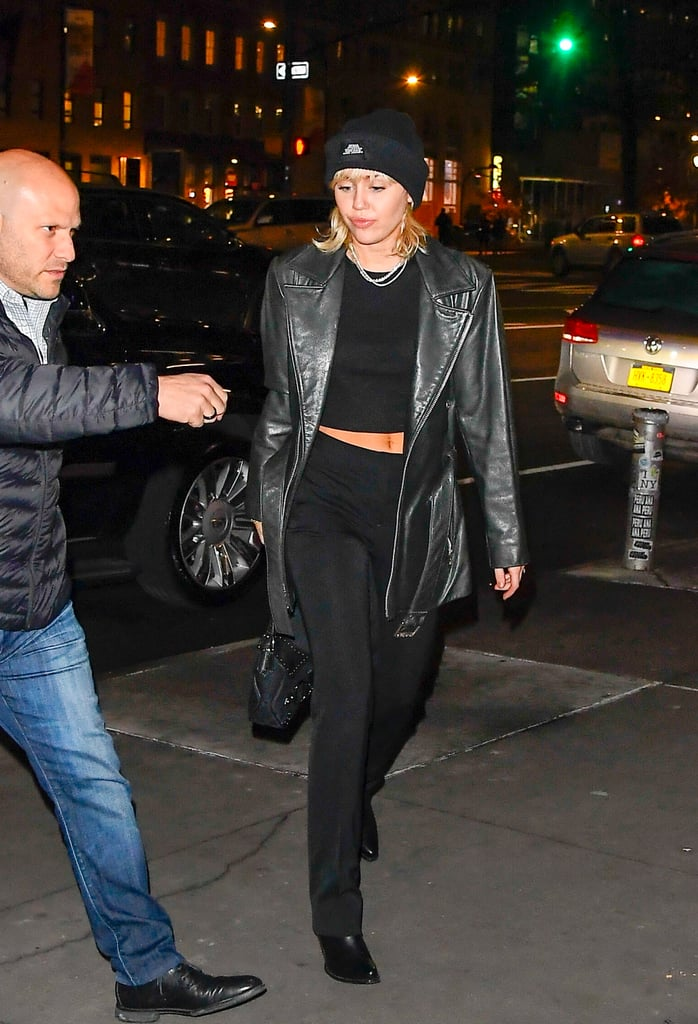 Miley Cyrus Wearing All Black in SoHo During New York Fashion Week