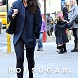 Katie Holmes hit the city streets.