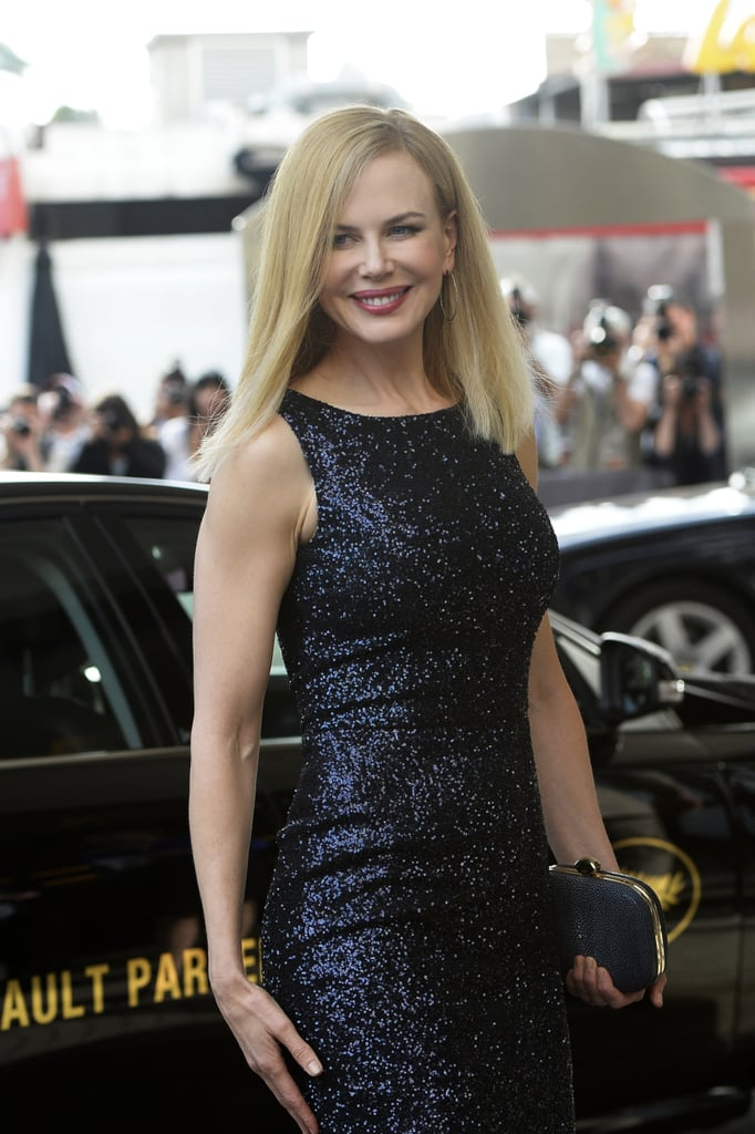 Nicole Kidman made a glowing entrance in Cannes on Tuesday.