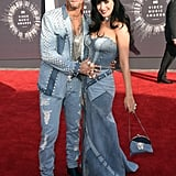 Katy Perry and Riff Raff paid homage to Justin Timberlake and Britney Spears in 2014.