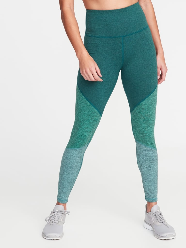 Old Navy High-Rise Elevate Colorblock Melange Leggings