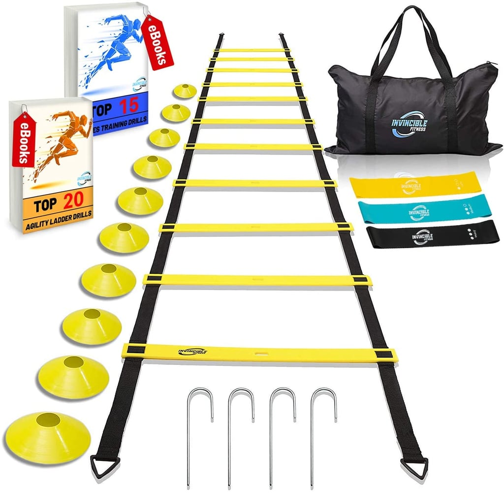 Invincible Fitness Agility Ladder Training Equipment Set