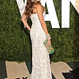 Sofia Vergara showed off her curves in Roberto Cavalli paired with a standout clutch.