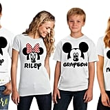 Matching Disney Family Shirts in White