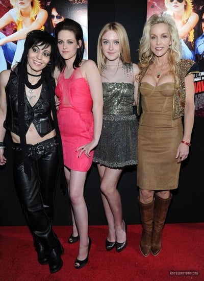 Kristen Stewart and Dakota Fanning at 'The Runaways' Los Angeles Premiere