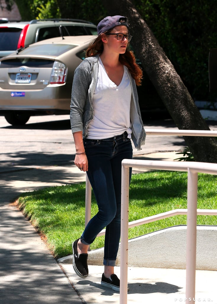 Kristen Stewart headed to a studio in LA.