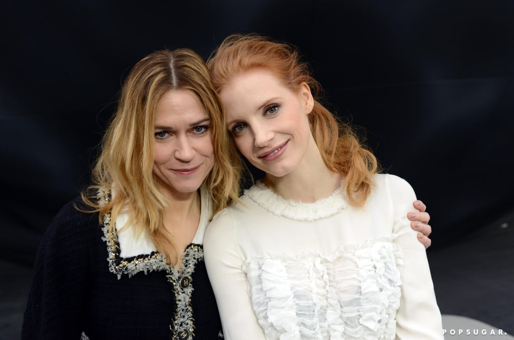 jessica chastain and marie josée croze sat next to each other in the