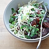 Vegetarian: Slow-Cooker Beans With Quinoa, Scallions, and Cheddar