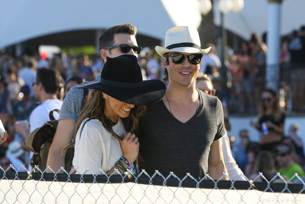 Ian Somerhalder and Nikki Reed Kiss at Coachella   Pictures