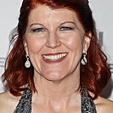 Kate Flannery stopped by the NBC party.