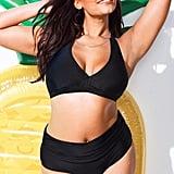 Swimsuits For All Diva Black Halter Bikini With Foldover Brief