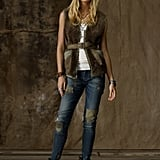 We'd dress up with vest with a pretty floral dress for a femme-meets-utilitarian look.  Faux-Sherpa Utility Vest ($98)