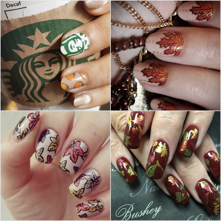 Diy Fall Nail Art Ideas Popsugar Beauty