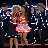 Ariana Grande performed on stage with Little Big Town at the CMAs.