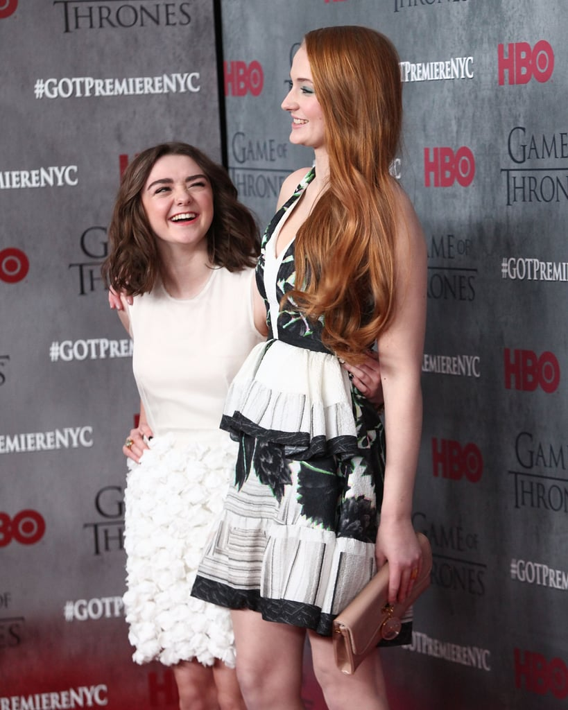 In March 2014, Maisie gave Sophie the sweetest look at the Game of Thrones season four premiere in NYC.