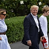 Melania Trump Wore a Gabriela Hearst Shirt Dress