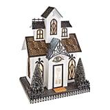 LED Light-Up White Halloween Haunted House