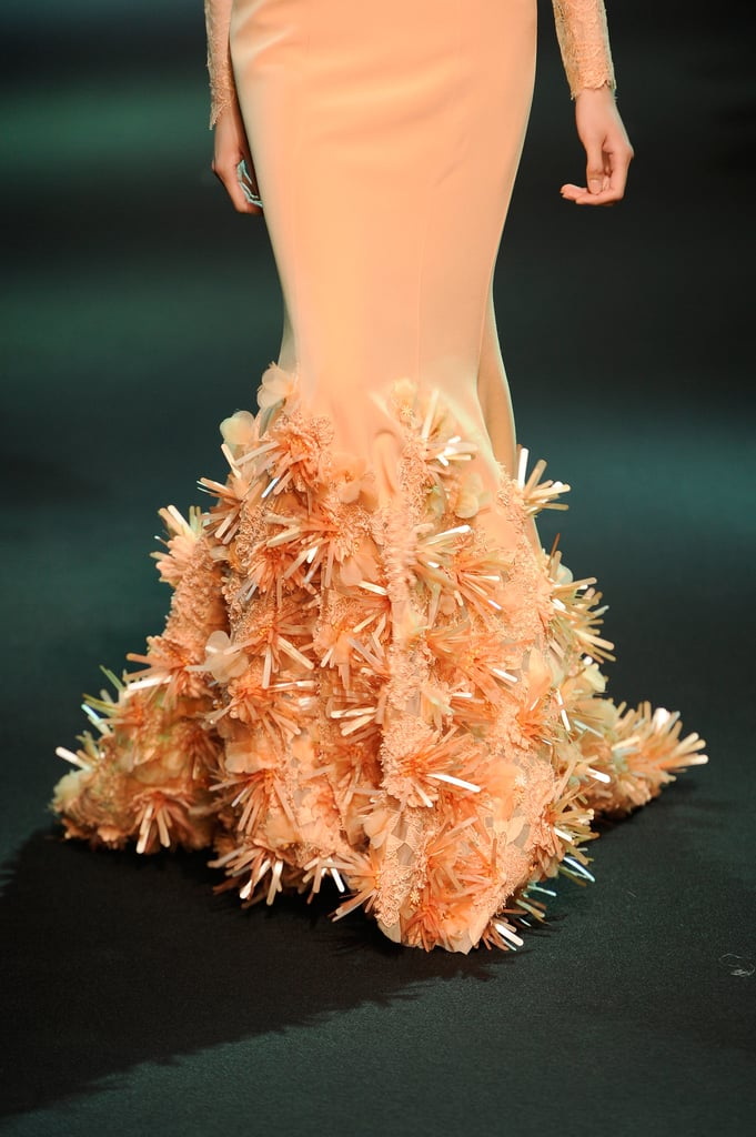 Enchanted by the spiky blooms on this Georges Hobeika Haute Couture Fall 2013 dress.
