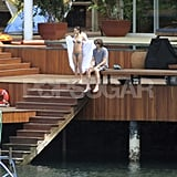 Demi Breaks Out a New Bikini to Relax With Ashton and Tallulah