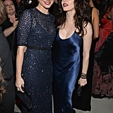 Amy Smart and Rose McGowan matched in blue.