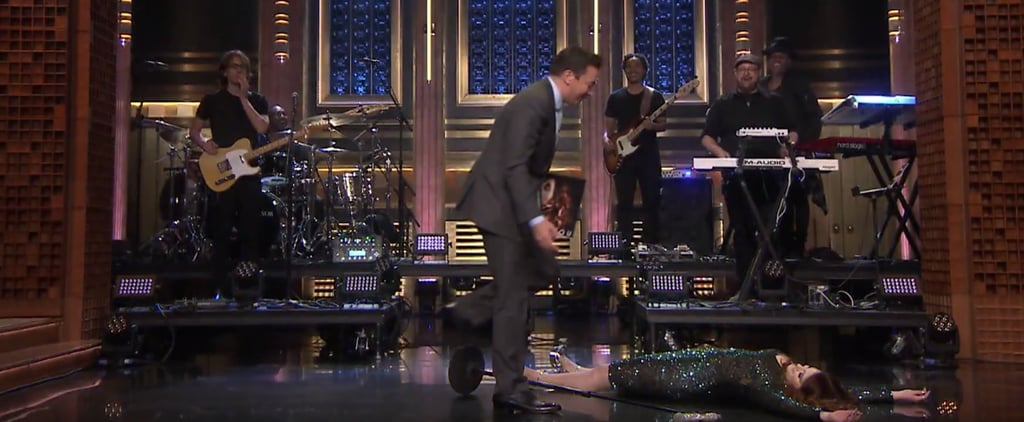 Meghan Trainor Falls on The Tonight Show May 2016