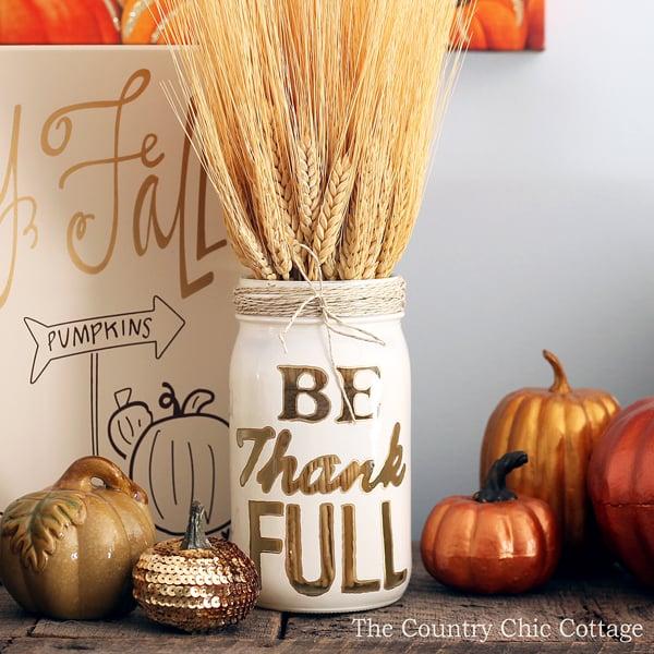 Mason Jar Thanksgiving Decorating Ideas Popsugar Home