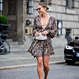 Style Brown Heels With a Minidress