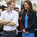 They made the cutest in-law duo during a visit to the Commonwealth Games village in Scotland in July 2014.