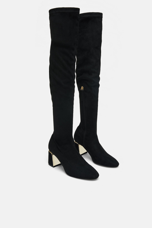 zara over knee boots