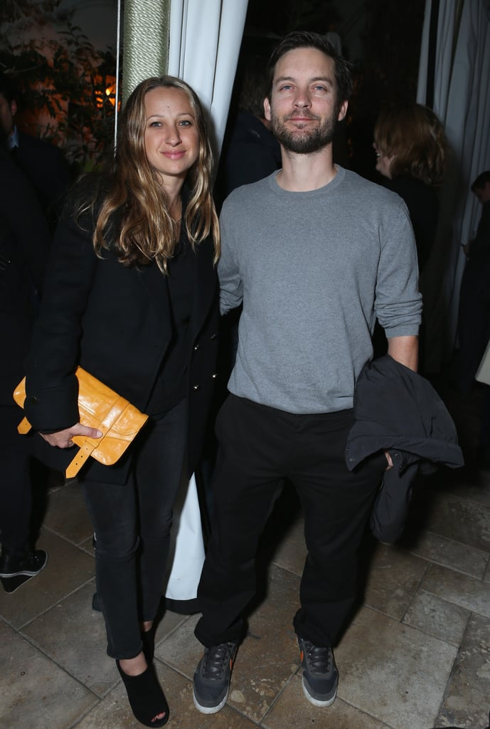 Jennifer Meyer and Tobey Maguire mingled with celebrities.