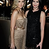 Kate Hudson and Emily Blunt caught up at the LACMA party.