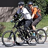 Pictures of Orlando Bloom Riding His Bike in Pasadena