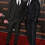 Luke Evans and Henry Cavill stood shoulder-to-shoulder on the red carpet.
