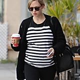 Amanda Seyfried Shows Off Her Tiny Baby Bump During a Casual Stroll
