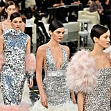 Evening Glamour Came By Way of Ostrich Feathers and Sequins