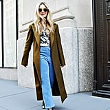 Fall Outfit Ideas: A Blouse, Corduroy Pants, Boots, and a Coat