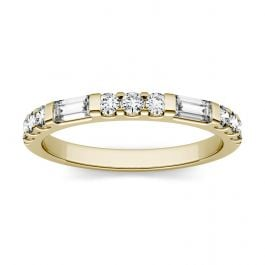 Moissanite Multi Stone Wedding Band in 14K Yellow Gold